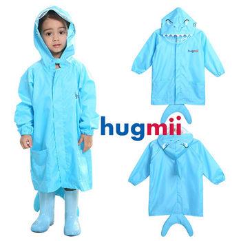 【hugmii】童趣立體造型兒童雨衣_藍鯊魚