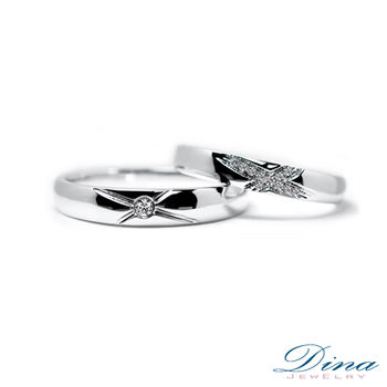 DINA JEWELRY 蒂娜珠寶『你是唯一』系列 結婚對戒(預購)