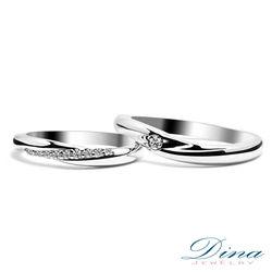 DINA JEWERLY蒂娜珠寶『守護』系列鑽石對戒-預網