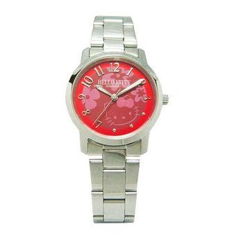 【Hello Kitty】花燈遍遍流行腕錶(酒紅)-LK572LWRA