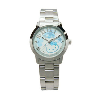 【Hello Kitty】花燈遍遍流行腕錶(藍面)-LK572LWNA1