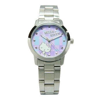 Hello Kitty 童玩博覽會趣味造型時尚腕錶-紫-LK683LWVI