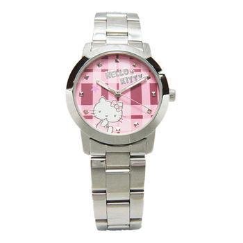 Hello Kitty 童玩博覽會趣味造型時尚腕錶-粉紅-LK683LWPI