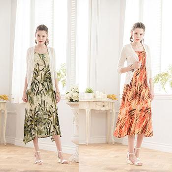 日本Impress經典名牌花摺洋裝+外套(2套)