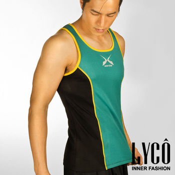 LYCO男背心‧Y綠吸排運動背心內衣