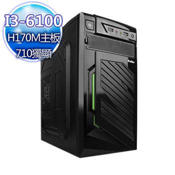 |華碩平台|爆炸襲擊 Intel i3-6100雙核 4G 獨顯GT710 1TB 桌上型電腦