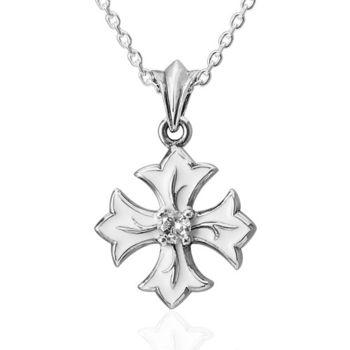 ART64 光芒 十字架 純銀項鍊