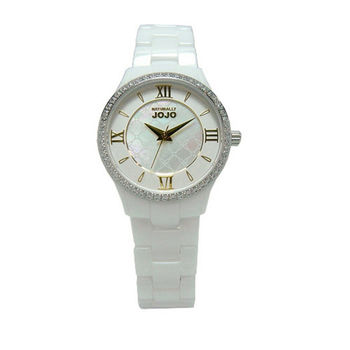 NATURALLY JOJO 女人的秘密基地時尚陶瓷優質腕錶-貝殼面-JO96880-81K