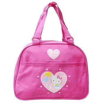 【HELLO KITTY】凱蒂貓愛心氣球手提式拉鍊餐袋便當袋萬用袋