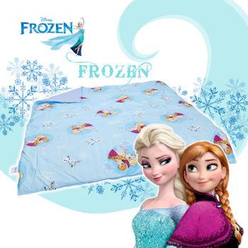 冰雪奇緣 雪花飄飄 藍 涼被 雙人