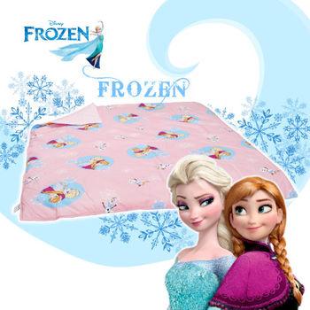 冰雪奇緣 雪花飄飄 粉 涼被 雙人