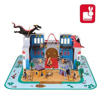 法國Janod創意兒童智玩-故事幻想系列-龍の城堡