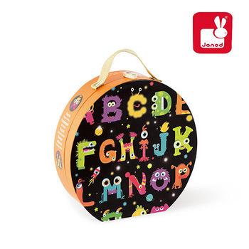 法國Janod創意兒童智玩-地板大拼圖-怪獸ABC(50片)