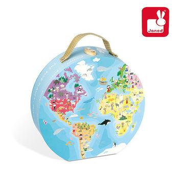 法國Janod創意兒童智玩-我們的地球雙面拼圖(208片)