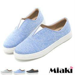 MiakiMIT懶人鞋輕底設計平底休閒包鞋(黑色/灰色/藍色)