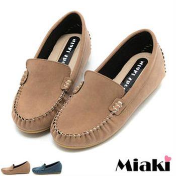 【Miaki】MIT 懶人鞋經典百搭平底休閒包鞋(藍色 / 棕色)