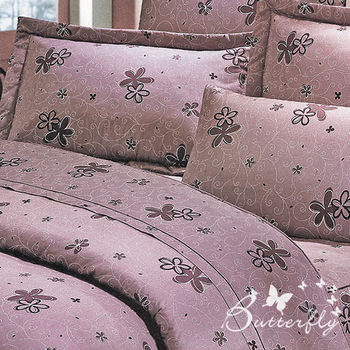 BUTTERFLY(漫步花雨-紅)單人枕套床包兩件組
