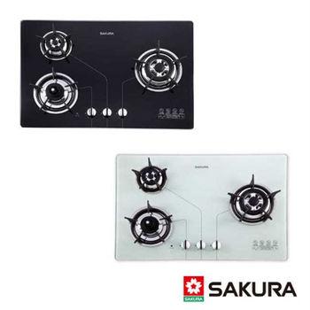 【櫻花】G-2830KG 三口防乾燒節能檯面爐