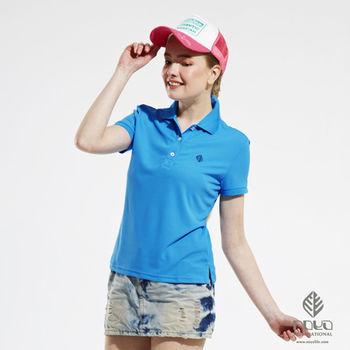 【NOYA】Bio-cooltex涼感舒適純色靚女POLO衫 中藍   原紗吸濕排汗 炎夏不黏膩