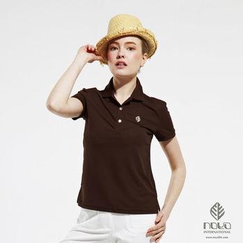 【NOYA】Bio-cooltex涼感舒適純色靚女POLO衫 咖啡   原紗吸濕排汗 炎夏不黏膩