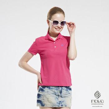 【NOYA】Bio-cooltex涼感舒適純色靚女POLO衫 亮桃紅  原紗吸濕排汗 炎夏不黏膩