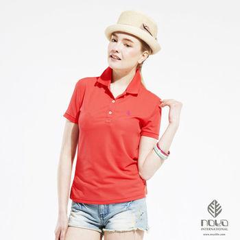 【NOYA】Bio-cooltex涼感舒適純色靚女POLO衫 桔紅  原紗吸濕排汗 炎夏不黏膩