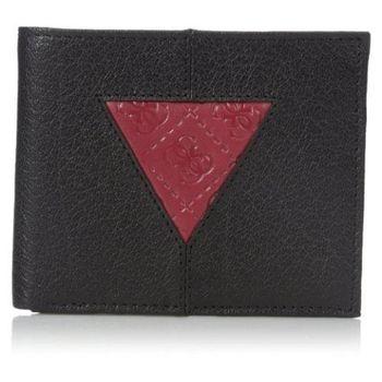 【Guess 】2016男時尚Culver三角補丁Logo黑色皮夾 -(預購)