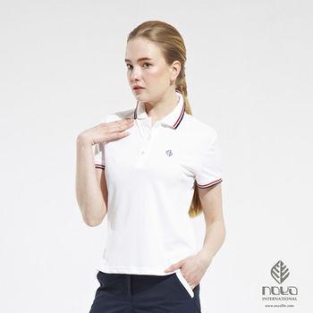 Coolmax透氣吸排經典設計女款螺紋POLO衫