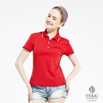 【NOYA】Coolmax透氣吸排經典設計女款螺紋POLO衫 紅色
