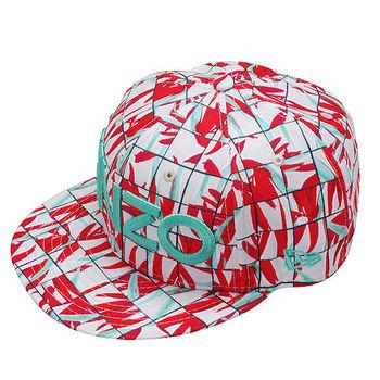 KENZO 經典NEW ERA BLOCK FLOWER印花棒球帽(石綠X桃紅)