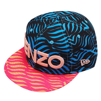 KENZO 經典NEW ERA WAVES印花棒球帽(藍X桃紅)