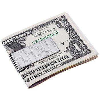 MONTBLANC 萬寶龍M LOGO不鏽鋼鈔票夾-銀 112996