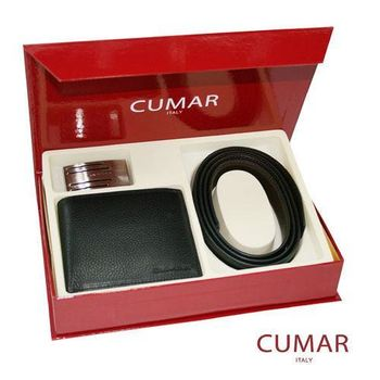 CUMAR皮帶皮夾禮盒組0596-16901-17