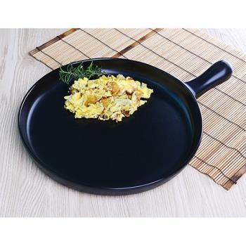 MIT 微笑標章【五福窯】 奈米易潔 陶瓷煎盤 (206)