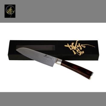 臻 刀具 / 大馬士革鋼系列-小萬用廚師刀 -DLC828-2C