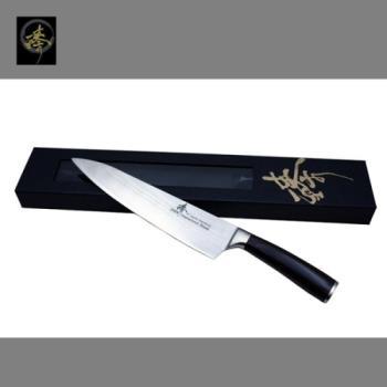 臻 刀具 / 大馬士革鋼系列-240mm廚師刀-DLC828-2B