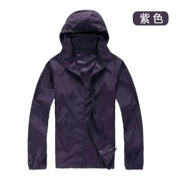 【M.G】(紫色)防風抗水遮日曬機能風衣  超輕薄,男性、女性都適穿,抗UV、防風、抗雨水,體積小巧易攜帶,有型又好看!