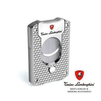 義大利 藍寶堅尼精品 - LES MANS CIGAR CUTTER 雪茄剪(銀色) ★ Tonino Lamborghini 原廠進口 ★