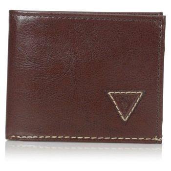【Guess 】2016男時尚Diego補丁三角logo深棕色皮夾-(預購)