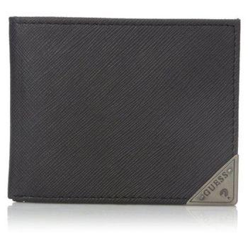 【Guess 】2016男時尚Chandler三角鐵標黑色皮夾-(預購)