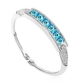 【米蘭精品】925純銀手環水晶手鍊尊貴精美時尚個性