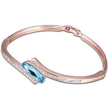 【米蘭精品】925純銀手環水晶手鍊奢華精緻流行百搭