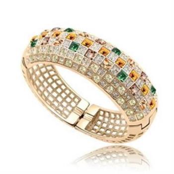 【米蘭精品】925純銀手環水晶手鍊奢華尊貴大方時尚