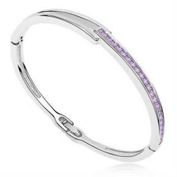 【米蘭精品】925純銀手環水晶手鍊特選簡約時尚個性