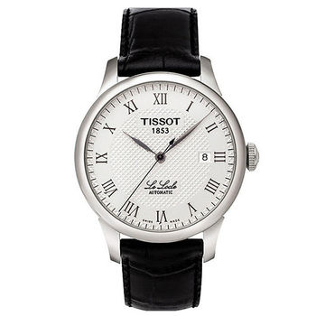 TISSOT Le Locle 力洛克圖騰紋機械腕錶/39mm/T41142333