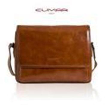 CUMAR復古棕油皮系列側背包-0296-C6602
