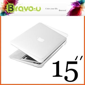 Bravo-u APPLE MacBook Pro 15吋 Retina 水晶透明保護硬殼