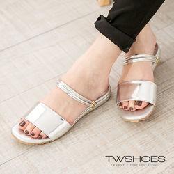 TW Shoes韓系時尚寬帶平底涼鞋/拖鞋(K123A3261)