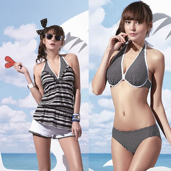 【SARBIS】大女比基尼四件式泳裝附泳帽B94601