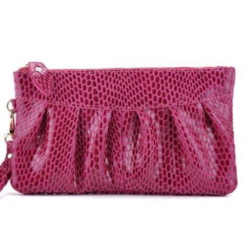 【米蘭精品】手拿包真皮零錢包甜美可愛時尚洞洞9色